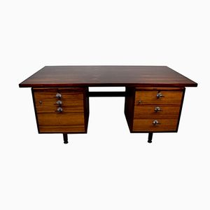 Mid-Century Rosewood Desk with Y-Handles and Adjustable Legs by Jens Risom