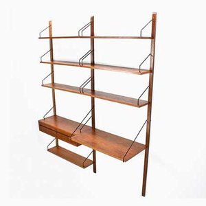 Danish Royal Shelving Unit in Teak by Poul Cadovius for Cado, 1950s