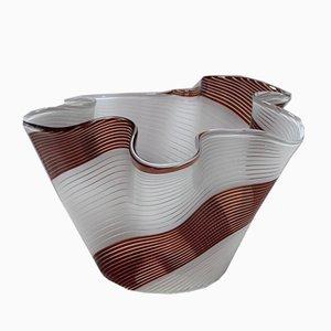 Vase Handkerchief Vintage Haut en Verre