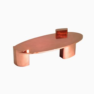 2069 Polished Copper Low Center Table by SORS Privatiselectionem