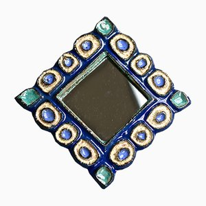 Specchio in ceramica di Les Argonautes, anni '60