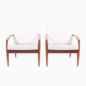 Mid-Century Lounge Chairs by Kai Kristiansen for Magnus Olesen, Set of 2