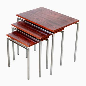Mid-Century Rosewood Side Table Set, 1960s