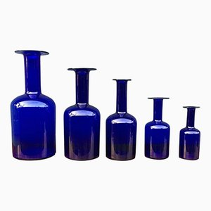 Set di vasi di Otto Brauer per Holmegaard, anni '60