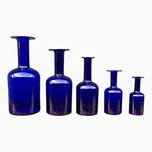 Vasen von Otto Brauer für Holmegaard, 1960er, 5er Set