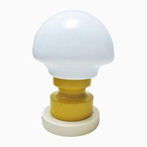 Lampe de Bureau Jaune et Blanche, 1960s