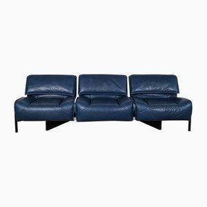 Blaues Mid-Century Veranda Sofa von Vico Magistretti für Cassina, 1970er