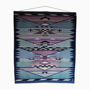 Handwoven Danish Tapestry by Mette Birckner, 1989