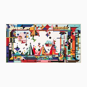 Sunset Beach Art Tafel von Kostas Neofitidis für KOTA Collections