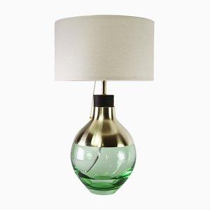 Hellgrüne M2 Museum Lampe aus Messing von Utopia & Utility