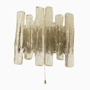 Ice Glass Wall Lamp by J. T. Kalmar, 1960s