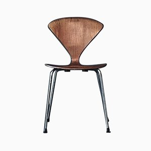 vintage metal base side chair by norman cherner for plycraft