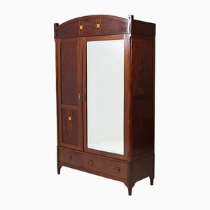 Dutch Art Nouveau Mahogany Wardrobe from H.Pander, 1900s
