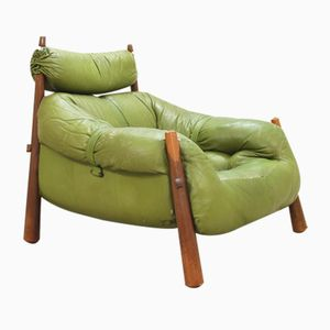 Vintage Green Lounge Armchair from Percival Lafer, 1958
