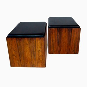 Danish Side Tables or Stools, 1960s, Set of 2