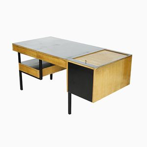 Mid-Century Dutch Wood and Metal Desk