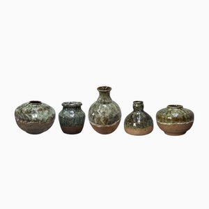 Spanische Mid-Century Gefäße aus Keramik von VF, 1960er, 5er Set