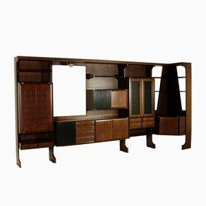 Armadio da salotto impiallacciato in palissandro, anni '60