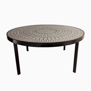 Vintage Aluminum Mosaic Coffee Table by Raf Verjans