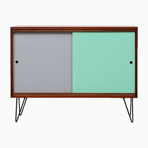 Teak Sideboard with Colored Doors, 1960s