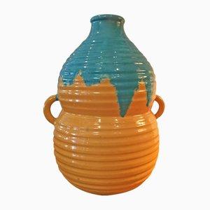 Vaso Art Déco in ceramica di Primavera, Francia, anni '40