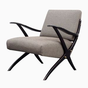 Armchair with Scissor Base, 1950s
