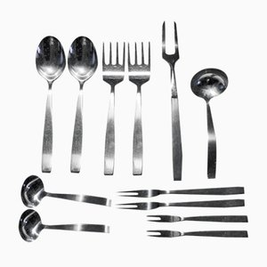 Model 2050 12 Piece Serving Set by Helmut Alder for Amboss, 1954