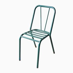 Vintage Green Metal Bistro Chair, 1940s