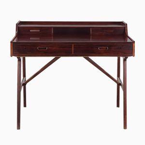 Vintage Model 51 Rosewood Desk by Arne Wahl Iversen for Vinde Møbelfabrik