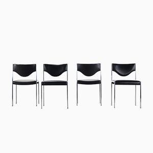 Esszimmerstühle aus Skai & Edelstahl von Lübke, 1970er, 4er Set