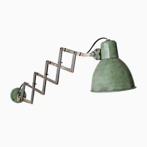 Vintage Industrial Green Scissor Light, 1950s