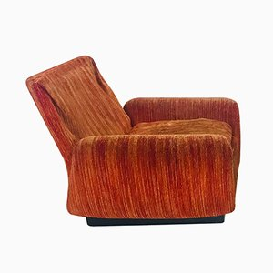 Vintage Italian Velour Lounge Chair from Saporiti, 1970s