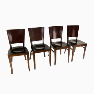 Vintage Functionalist Chairs, Set of 4