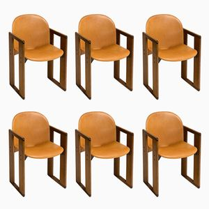Dining Chairs by Tobia & Afra Scarpa for B&B Italia, 1970s, Set of 6