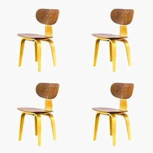SB02 Side Chairs by Cees Braakman for Pastoe, 1950s, Set of 4
