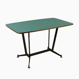 Table Vintage en Métal, Laiton & Formica, Italie