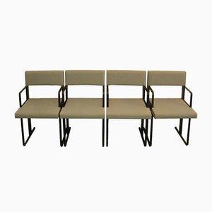 Postmoderne DC Stühle von Dick Spierenburg für Castelijn, 1978, 4er Set