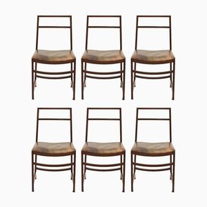 Vintage Chairs by Renato Venturi for MIM Roma, Set of 6