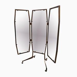 Mid-Century Italian Triptych Mirror, 1960s