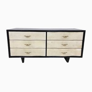 Art Deco Parchment Chest Of Drawers, 1940s