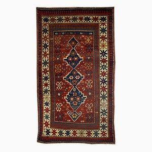 Antique Handmade Caucasian Kazak Rug, 1900s