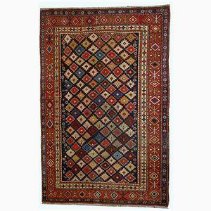 Antique Handmade Caucasian Shirvan Rug, 1910s