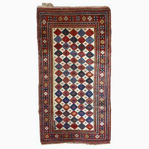 Handgefertigter Antiker Kaukasischer Kazak Teppich, 1890er