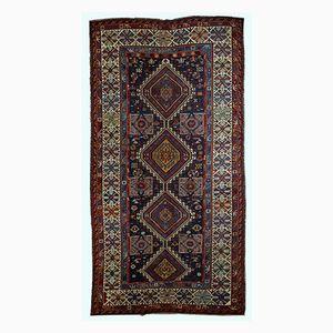 Antiker Handgefertigter Kaukasischer Shirvan Teppich, 1890er