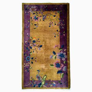 Handgefertigter Chinesischer Vintage Art Deco Teppich, 1920er