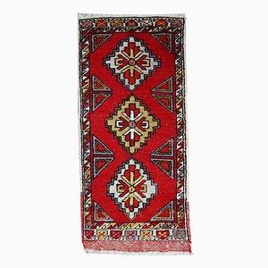 Tappeto Yastik vintage fatto a mano, Turchia, anni '50
