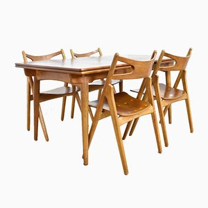 CH29 Sawbuck Chairs & AT312 Table by Hans J. Wegner for Andreas Tuck, 1950s