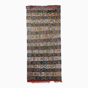 Tappeto Flat Weave vintage fatto a mano, Tunisia, anni '50