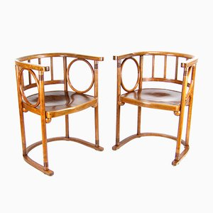 Armchairs by Josef Hoffmann for J & J Kohn, Mundus, 1910s, Set of 2