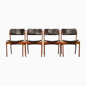 Model 49 Teak Dining Chairs by Erik Buch for Odense Mobelfabrik, 1960s, Set of 4